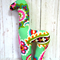 Handmade Giraffe Rattle - Vera Bradley Tutti Frutti