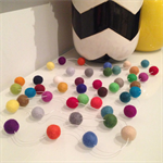 Felt Ball Garland in Mixed Boy Colours