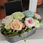 "Preserved Flower Arrangement "" Rustic Tin - Softy"""