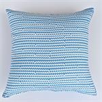 Blue and White Ric - Rac Print Cushion Cover