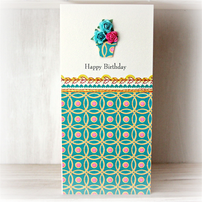 Happy Birthday Roses Card Happy Birthday Card Roses Vase