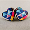 Stud Earrings - Geometric Heart Wooden