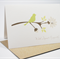 Sympathy Card - Green Silhouette Bird on Branch - WDS010