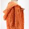 minicouture orange chenille jacket