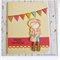 Happy Birthday Handmade & Coloured Greeting Card - Shy Girl