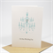 Congratulations Wedding Card - Turquoise Chandelier with Pearls - WED034