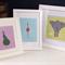 "5 x Animal Bum Prints 8""x10"" Pastel Baby Blue Pink Nursery Kids Room Decor"