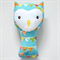 Owl Rattle Blue with Bunting Garland