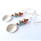 Full Moon sterling silver and pearl earrings by Sasha and Max Studio