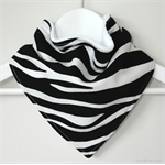 BUY 3 GET 4th FREE Zebra Bandana Dribble Bib Black White