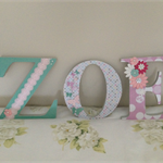 Handmade Decorative Girls Letters