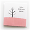 BABY pink girl card birds and tree chevron pink