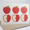 Blank Card - Red Apples -  Thank You etc - BLA028