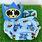 Batman Superhero 1st Birthday / Cake Smash Set - Crown Nappy Cover Bow Tie