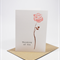 Sympathy Card Thinking of You - 1 Pink Rose - WDS009