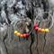 Polymer Clay Fire Ombré Hoop Earrings