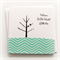 BABY blue boy card birds and tree chevron blues