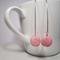Polymer Clay 'Daisy' Pink Dangle Earrings