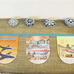 Airplanes Bunting Little Golden Book Aeroplanes Pilots Blue Orange Flight
