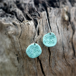 Polymer Clay 'Daisy Sky' Blue Dangle Earrings