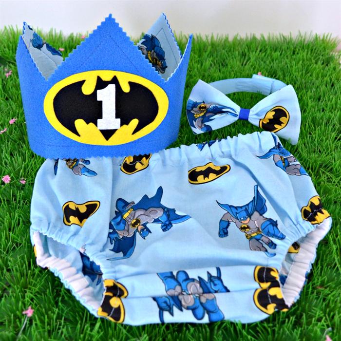 Batman Superhero 1st Birthday Cake Smash Set