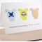 Baby Boy Card - It's a Boy - 3 Boys Onsies - BBYBOY032