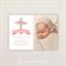Girls Photo Christening/baptism Invitations. Decorative cross. I Customise, You