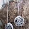 Ink & Polymer Clay Patterned Dangle Earrings
