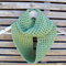 Lime green infinity crochet scarf