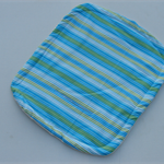 Blue white green stripped print waterproof liner for pram/stroller or car seat