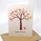 Birthday Card Female - Patchwork Tree and Pink Birdies - HBF107