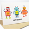 Happy Birthday Card - Boy - 3 Robots - HBC076