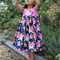 Girls Floral / Roses Dress in Jennifer Paganelli Fabric Size 3