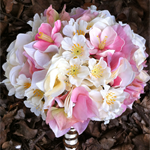 Pink Cherry Blossom Brides Bouquet