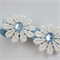 Gorgeous blue and lace daisy hair clip.