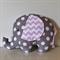 Large Elephant Softie - Grey & White Spot & Pink Chevron