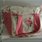 Barefoot Roses and Spots Nappy Bag with Zipper and Long Strap