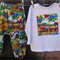 Harem pants and long sleeve T, size 1,boys outfit, bright train fabric,
