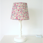 Purple fabric lampshade - small tapered shade