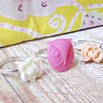 Brygida Children's Ring Set Flower Trio Pink Cream Pastel Peach Owl Girls