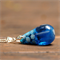 Winter blue snowflake resin teardrop pendant