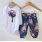 """Pretty Floral Tree"" Modern Harem Pant + applique bodysuit Sizes 000-0"