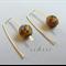 Argentium Sterling Silver range - tortoise shell Czech bead earrings