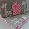 Giraffe Nappy Wallet and Giraffe Nappy Mat with Pink PUL Laminate