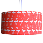 Large salmon coloured flamingo lampshade