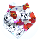 Bandana bib baby dribble bibs girls girl boy boys skull mexican retro unisex