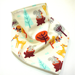 Bandana bib baby dribble bibs boys boy girl girls babies woodland animals
