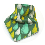 Bandana bib baby dribble bibs green boy girl boys girls babies raindrop unisex