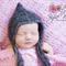 Delicate Peaked Mohair Bonnet / Newborn Photography Prop / Chevron Effect