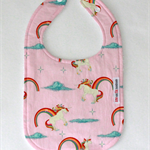 Bib - Buy any 3 get the 4th free / Rainbow Unicorn Pink